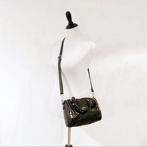 ASH Georgia Studded Crossbody Bag Leather Black